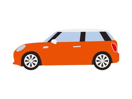 Compact car (Orange)