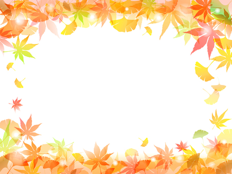 Autumn leaves Ginkgo biloba background-6