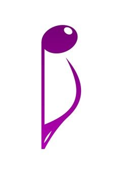 8th note (reverse) - purple