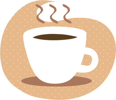 Coffee cup (dot background)