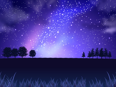 Summer star and night sky and field background 03