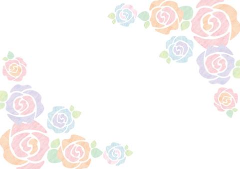 Watercolor _ rose _ frame