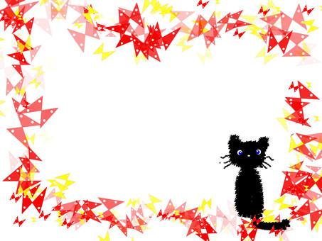 나비 고양이 프레임 2