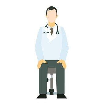 醫生坐在椅子上