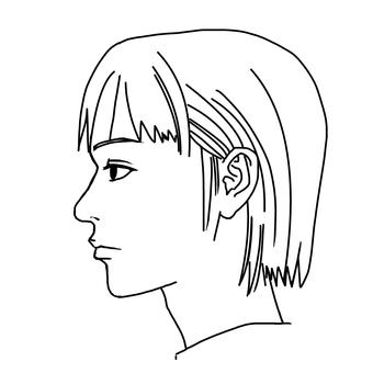 Female profile.
