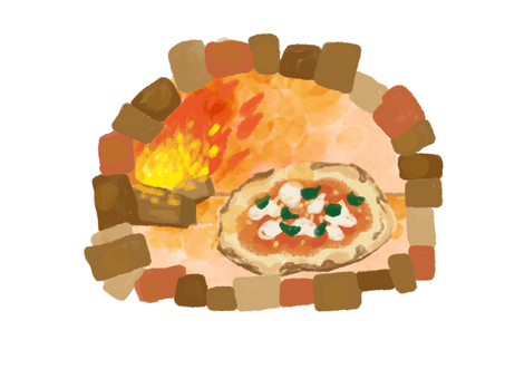 Kiln-baked pizza