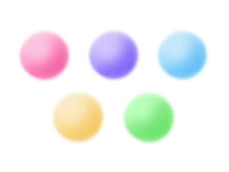 Assorted balls (pastel color)