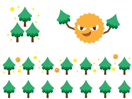 Cedar and pollen image illustration