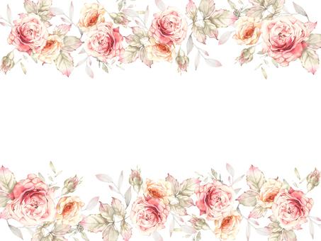 Flower frame 413 Classic color rose flower frame