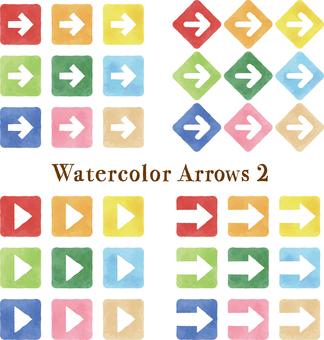Watercolor touch arrow set 2