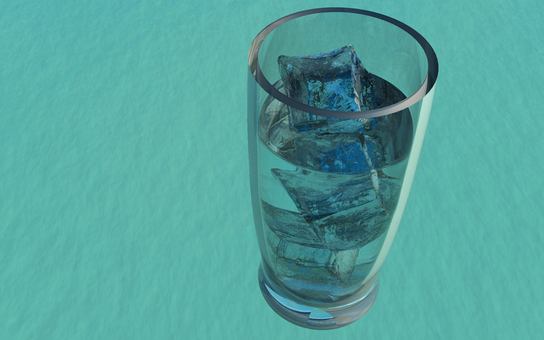 Ice glass 7 (background transmission)