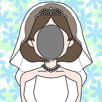 Wedding dress 1 face squirt