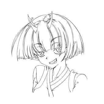 Kashima Maehiro, Smile (Line drawing)