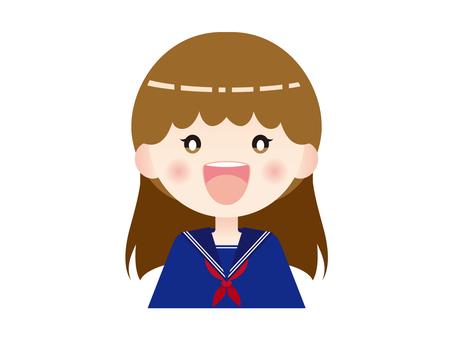 Smiling girls high school student 02