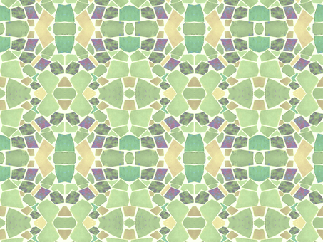 Mosaic tile background (green)
