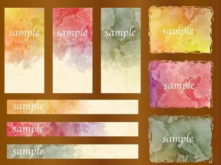 Water color background set ver 37