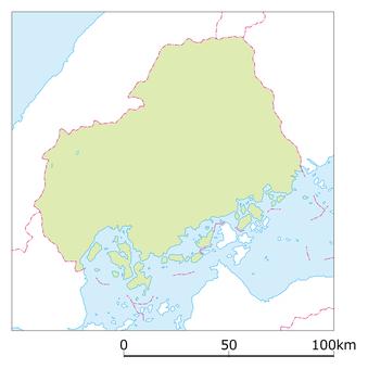 Hiroshima prefecture map
