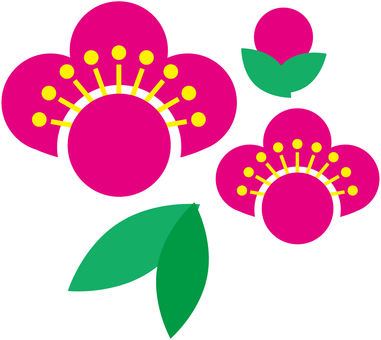 Plum flower material 002
