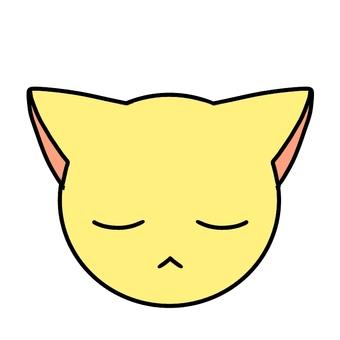 Eyes closed cat face