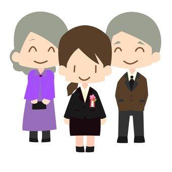 School entrance ceremony (family)