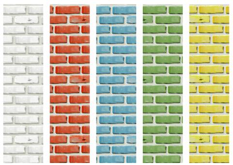 Colorful brick labels