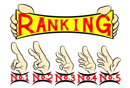 Ranking finger set