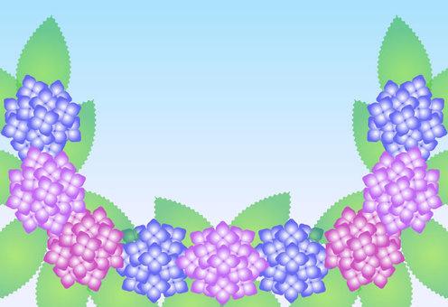 Hydrangea frame with background