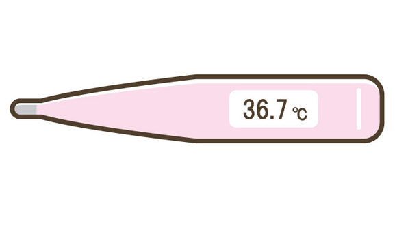 Basal thermometer / thermometer / pink