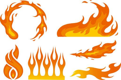 炎シルエット イラストの無料ダウンロードサイトシルエットac