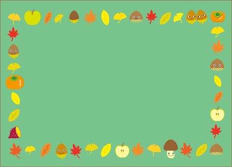 Autumn frame ~ green series
