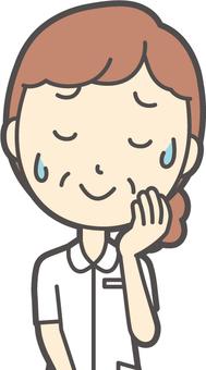 中年婦女護理白大衣 -  183-胸圍