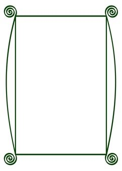 Green spiral frame