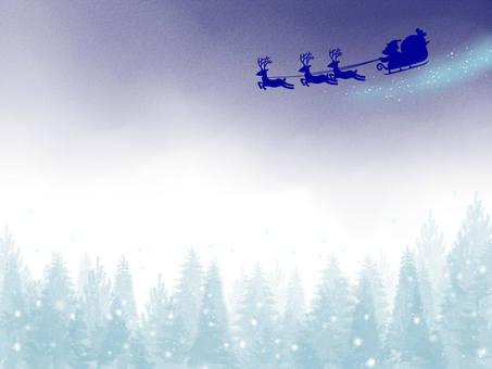 圣诞老人和雪景