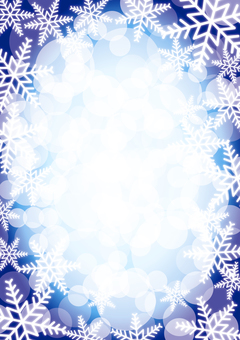 Snow crystal background _ blue