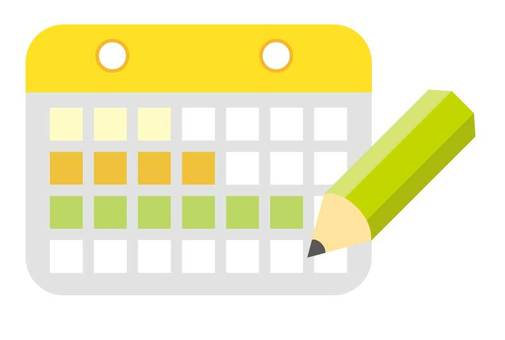 Calendar icon Yellow