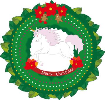 Christmas wreath (unicorn)
