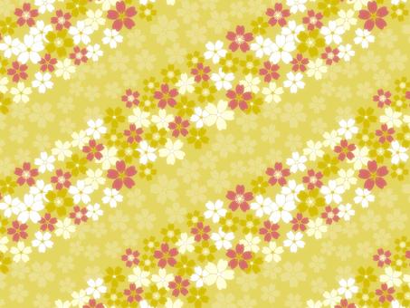 紅色,白色,黃色櫻桃背景在黃色背景·壁紙