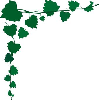 Corner decoration of green leaves