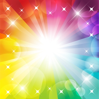 Glitter rainbow background frame
