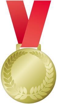 Illustration of gold medal