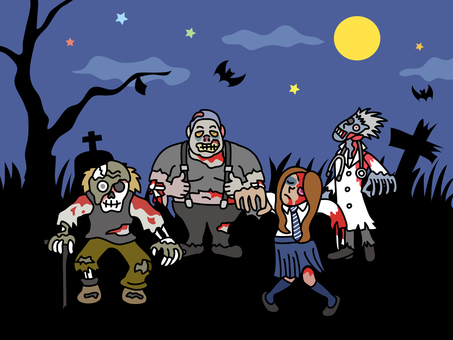 Zombies in the graveyard