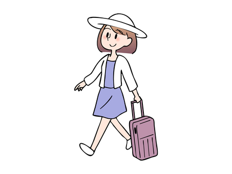 Woman enjoying travel