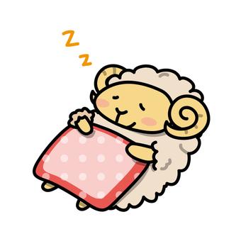 羊在羊睡覺