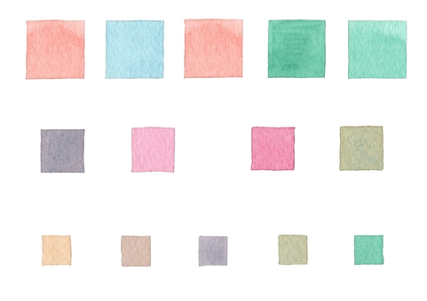 [Watercolor material] Four corners