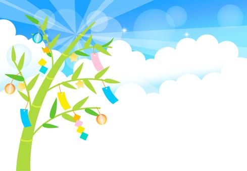 Tanabata frame sky