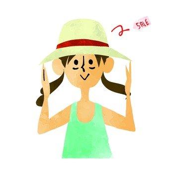 Sale straw hat