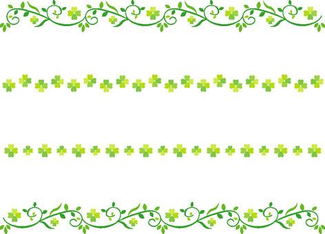잎의 장식 라인 네잎