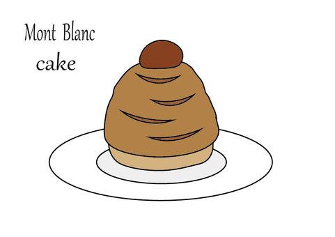 몽블랑 케이크