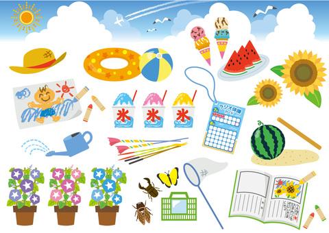 Summer vacation set