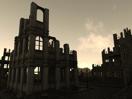 Ruined town in the sky
